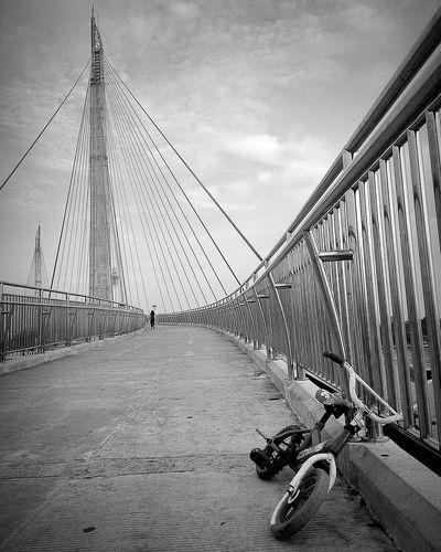 Only lonely Bridge Bicycle Jambi INDONESIA Wonderful Indonesia BeautifulIndonesia Blackandwhite Photooftheday Natgeotraveler Asuszenfone5 AsusZenfone5Photography Streetphotography