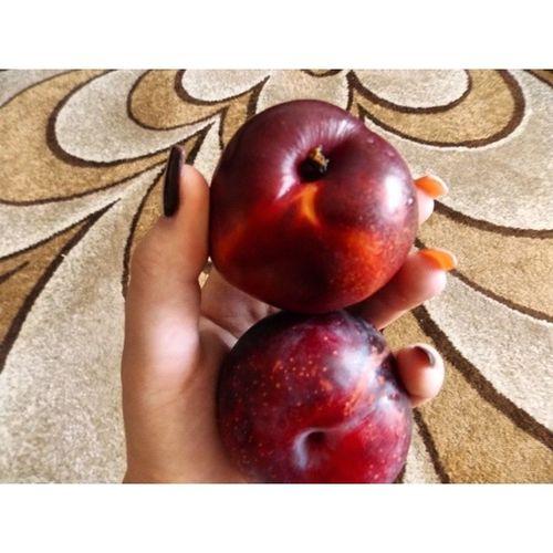 Помешана на фруктах. нектарин слива