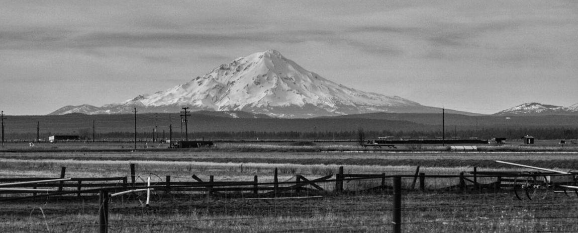Farm Life in Shasta County, California. Mt Shasta Snow Covered Volcano