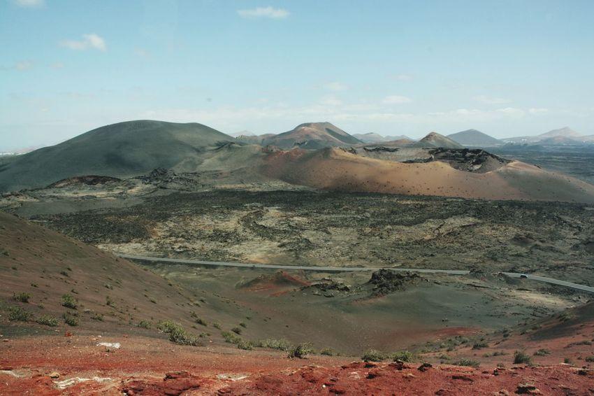 Desert Landscape Outdoors Nature Day Scenics Sky Volcanoes Timanfaya No People Volcano Lanzarote Travel Destinations Nature Beauty In Nature Travel Volcanic Island Volcanic Landscape Craters Crater