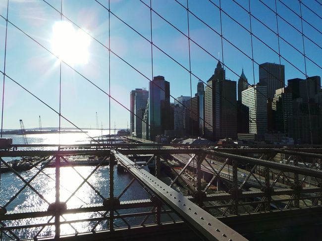 New York New York Harbor Brooklyn Bridge / New York
