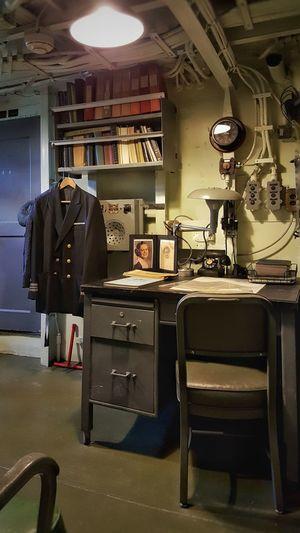 Navy 1940's Vintage Wartime  Officers Quarters Desk Uniform Ship
