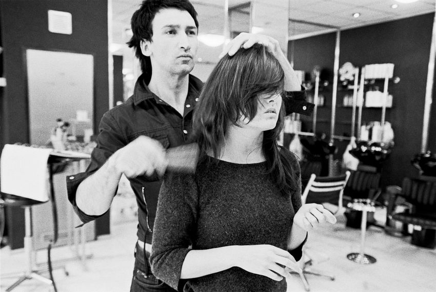 A styling moment... Analogue Photography Styling Adult Adults Only Blackandwhite Day Film Photography Friendship Haircut Indoors  Lifestyles Men People Real People Togetherness Two People Women Young Adult Young Women