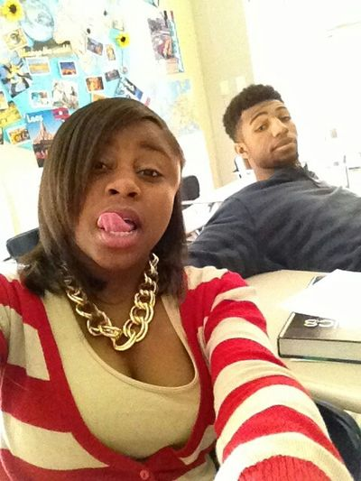 Me and my nigga Vince in French Class.