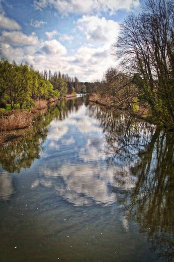 Beauty In Nature Canals And Waterways Day Lake Landscape Metz, France Nature Reflection Sky Tree Water
