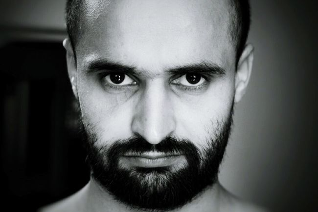 black and white portrait of a man - intense look Intense Confidence  Determination Focus Serious Seriousface Selfportrait Selfie ✌ Shiny Eyes Focus Black And White Bold And Beautiful Bald And Beard No Shave November Movember RePicture Masculinity Picturing Individuality Gangsters Paradise Look Deep Into My Eyes The Portraitist - 2016 EyeEm Awards Natural Light Portrait Rough And Rugged The Portraitist - 2017 EyeEm Awards Determination Determined Facial Hair Masculinity Handsome Macho