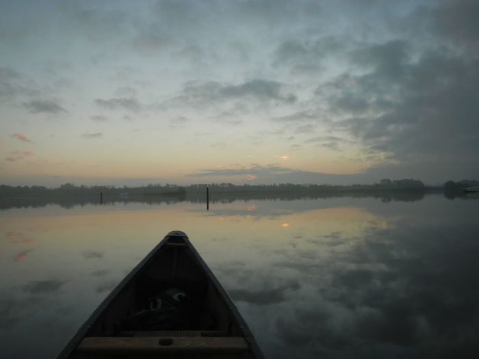 Barton Broad Barton Turf Beauty In Nature Bell Canoes Canoeing Cloud - Sky Day Dusk Mode Of Transport Nature Nautical Vessel No People Norfolk Norfolk Broads Outdoors Peaceful Reflection Scenics Sky Song Of The Paddle Sunrise Sunset The Broads Transportation Water