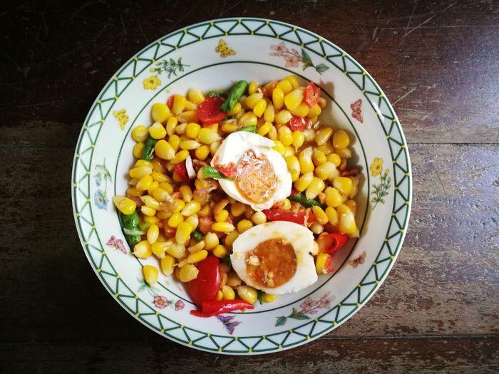ตำข้าวโพดไข่เค็ม First Eyeem Photo