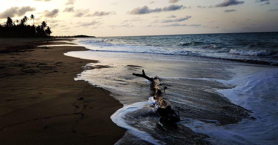 Water Sea Beach Sunset Sand Sky Horizon Over Water Wave Coast