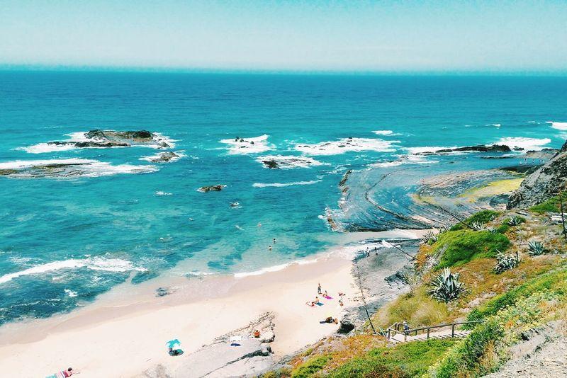 Praia Praia Da Carriagem Costa Vicentina Portugal Beach Mar