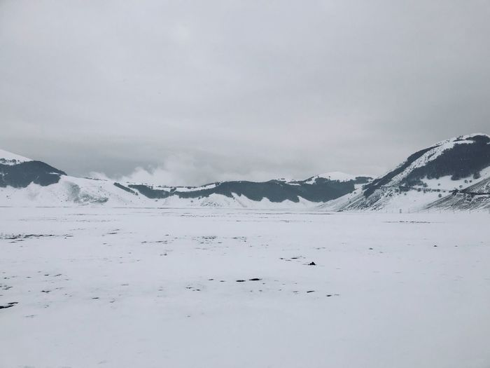 Mountain Cold Temperature Beauty In Nature Scenics - Nature Winter Sky Snow Environment Landscape Snowcapped Mountain