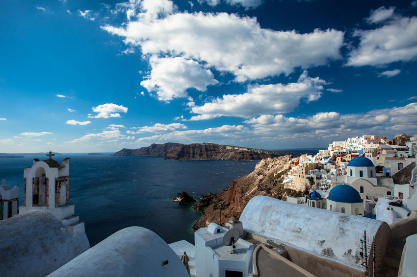 Oia village in Santorini island, Greece. Beauty In Nature Cityscapes Cloud - Sky Grecia Greece Greek Islands Grèce, Greece, Island Landscapes With WhiteWall Nature Oia Oia Santorini Santorini Santorini Island Santorini, Greece Scenics Sea Seascape Seaside Travel Travel Photography Village