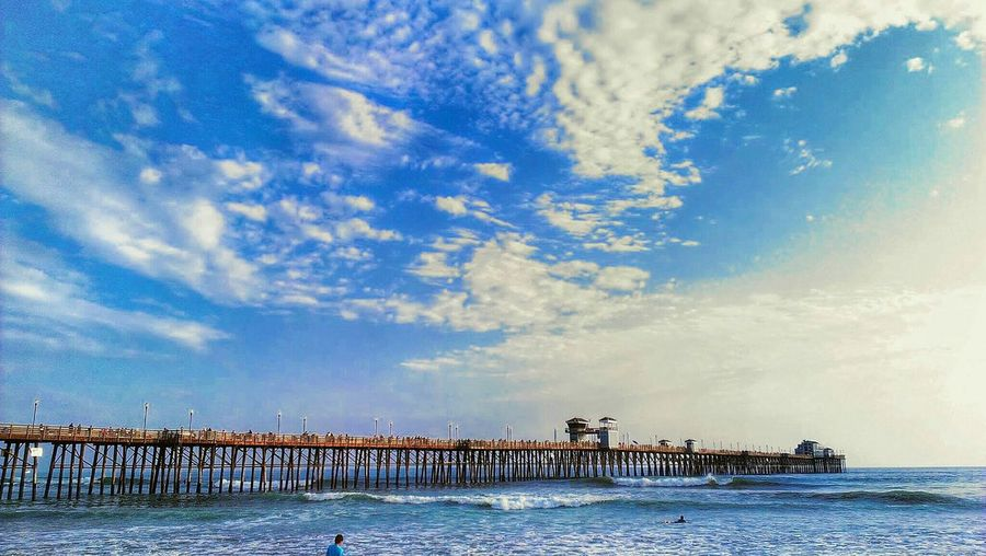 Beautiful Sky at Oceanside Pier in The America's Best City San Diego Sky And Clouds Sky And Sea Blue Sky Pier Summertime Summer Days