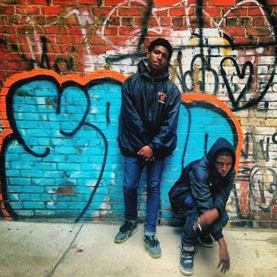 ME and my lil bro chilling Taking Photos Street Fashion Rebel Siblings Love