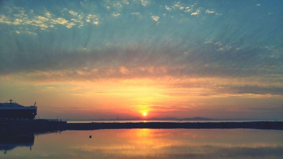 sunset Pyungtek Harbor