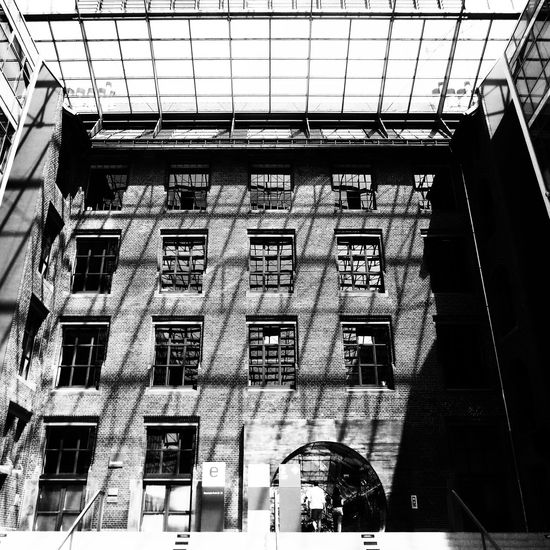 Architecture Berlin Black And White Photography Blackandwhite Bnw Bnw_captures Bnw_collection Building Exterior Built Structure Energieforum Berlin Geometric Shape Geometry Light And Shadow Low Angle View Shadows & Lights Window