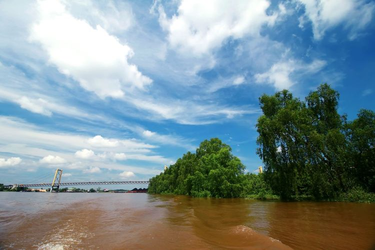 Barito River Nature Photography Nature_collection Green Tree Nature Green Color adventures in the city EyeEm Selects River Water Water_collection Blue Blue Sky Beach Nautical Vessel Sand