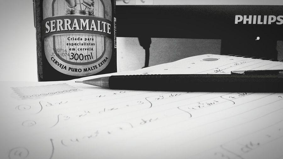 Calculo + Cerveja = paciência Calculos Integral Beer No Stress