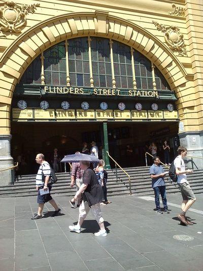 Full Length People Day Real People Building Exterior Outdoors The Week Of Eyeem EyeEm Vision EyeEm Best Shots Flindersstreetstation Melbournecity Melbonpix