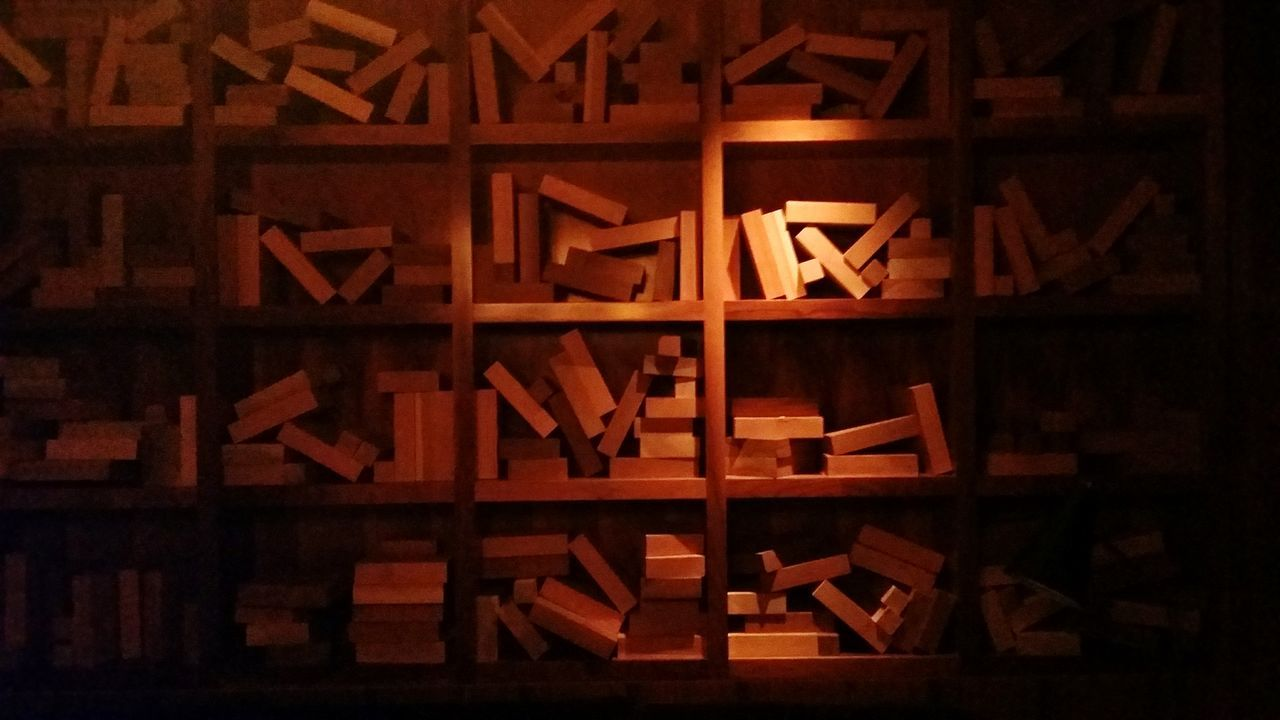 large group of objects, wood - material, abundance, no people, stack, indoors, close-up, day