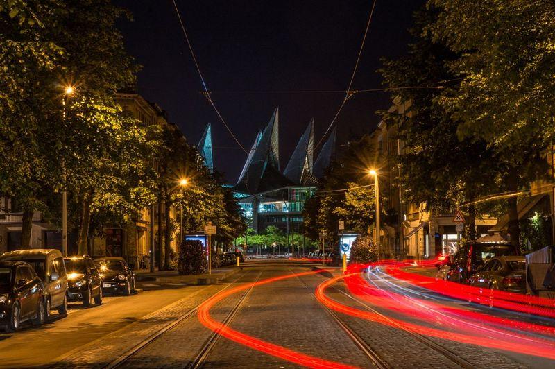 Antwerpen Court Long Exposure Nightphotography Night Lights Streetphotography