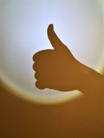 Good To Go Close-up Hand Profile Human Body Part Human Hand Silhouette Thumbs Up !