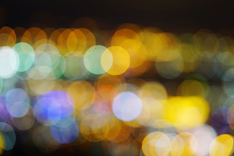 Exploring Style Defocused Night Illuminated Pattern Multi Colored Backgrounds Spotted Light Effect Lighting Equipment Abstract No People Light Close-up Shiny Outdoors