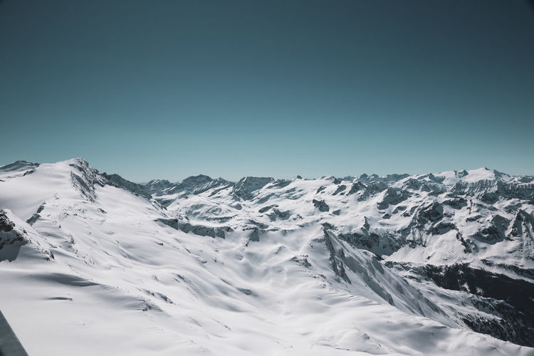 Mountain Sky Scenics - Nature Beauty In Nature Snow Clear Sky Cold Temperature Winter Snowcapped Mountain Tranquility Tranquil Scene Mountain Range Copy Space Environment Non-urban Scene Nature Day Blue Landscape No People Mountain Peak Mountain Ridge Kitzsteinhorn My Best Photo