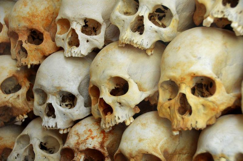 The Killing Fields, Phnom Penh Cambodia Tourist Bone  Close-up Human Body Part Human Bone Human Skeleton Human Skull Killing Fields Monument People Phnompenh Skull Spooky Travel Destinations