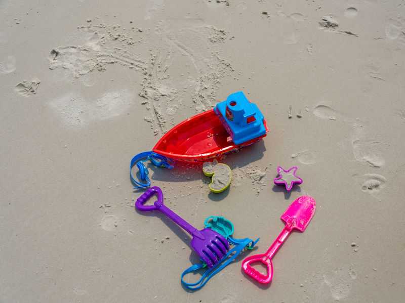 Children Fun Vacation Time Absence Beach Childhood Day High Angle View Multi Colored Nature No People Outdoors Relaxation Sand Sand Pail And Shovel Sea Water Summer Exploratorium