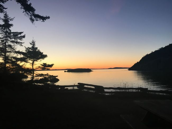 You can't just talk about places like this Sunset Water Beauty In Nature Nature Scenics Tranquil Scene Tranquility Silhouette No People Outdoors Deception Pass Washington