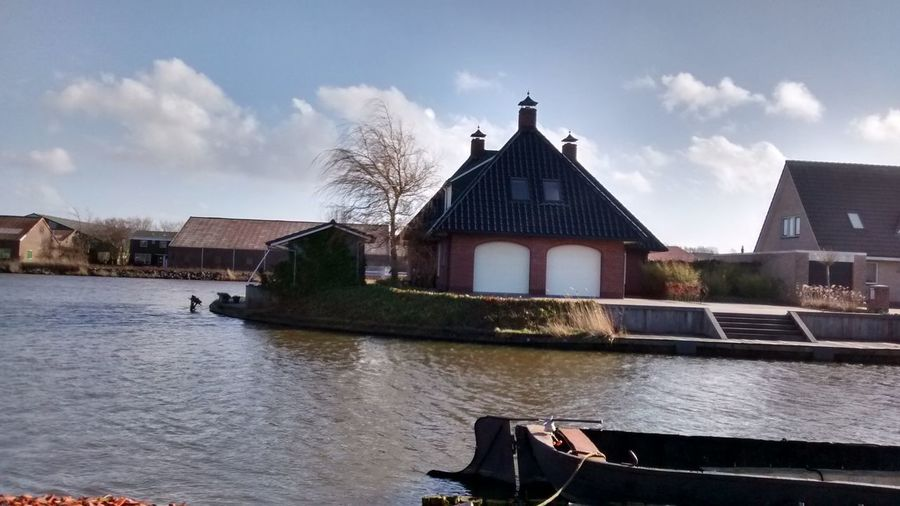 Architecture Boat Canals And Waterways Cloud - Sky Franiker, Netherlan House House By The Water No People Outdoors Sky Water Waterfront