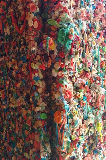 Gum Wall, Seattle - WA Pattern Backgrounds Multi Colored Textured  Abstract Close-up No People Wallpaper Gum Gum Wall Landmark Tourism Travel Destinations Tourist Destination Ewww Colorful Full Frame Indoors  Day