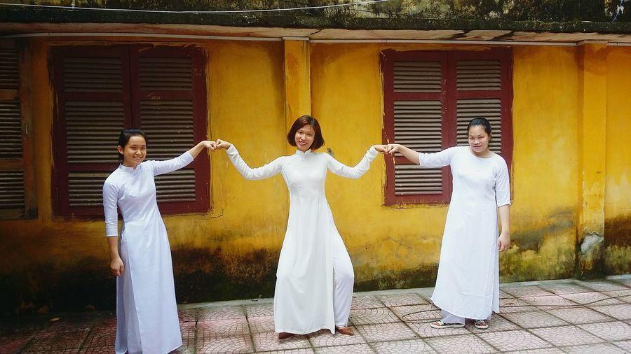 TheLast School Year Highschool Aodai Vietnamphotography Trngm Senior Year The Color Of School