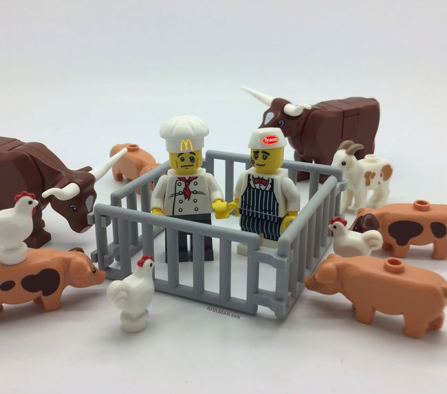 Did you know that a plant based diet is good for you? Go Vegan! Toys Toy Photography Toypics Vegan Veganshare LEGO Legos Toycommunity Farm Mcdonalds Tysonsfood Legomoc