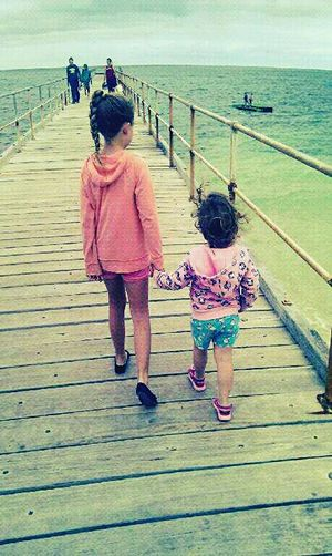 WithTheBestOfFriends Beachbabes My Baby Girls❤ Beachphotography Life Is A Beach Beachjetty Enjoying Life Simply Life
