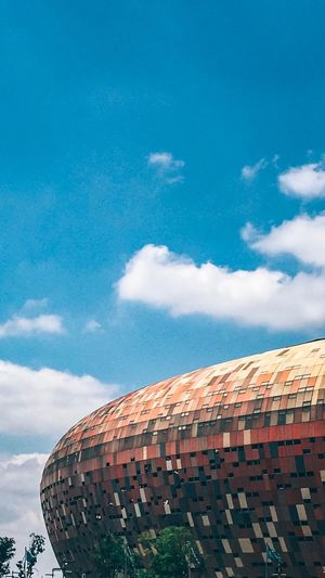 Calabash FNB Stadium EyeEm Selects Sky Cloud - Sky Architecture Building Exterior Built Structure Nature Blue Building Day Outdoors Low Angle View No People City Brick Roof