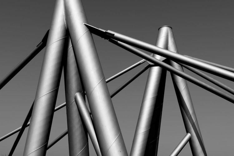 Low Angle View Of Metal Structure
