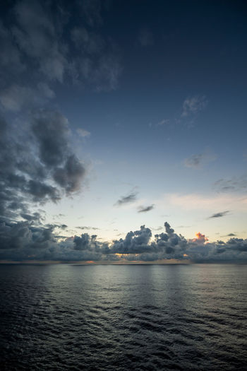 Clouds on horizon 07 Clouds Dawn Horizon Horizon Over Water Nature Ocean Rippled Sea Sea And Sky Seascape Sky Sunrise Sunset Tranquility Water