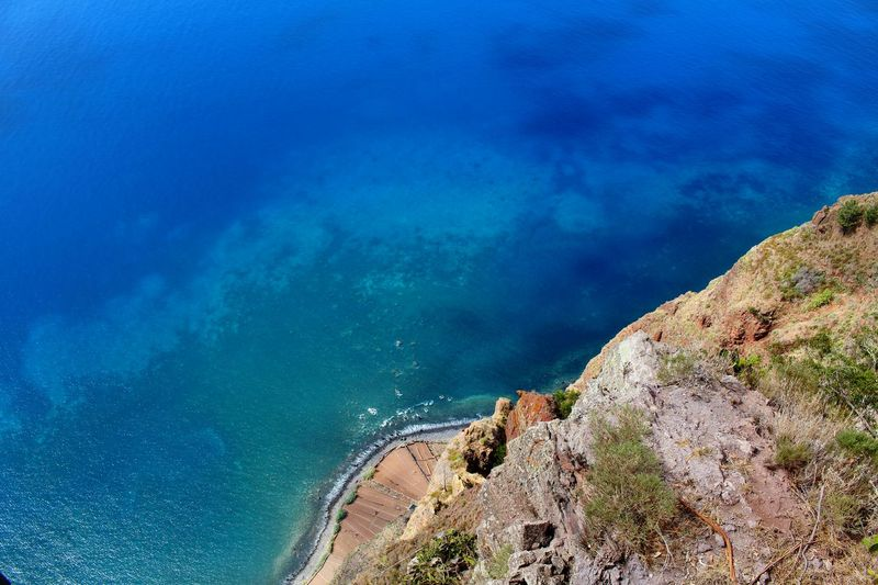 Penhasco Blue Beach Sea Water Outdoors Beauty In Nature Penhasco Abismo Capture The Moment Photooftheday Photography Blues Sea Side Birdview Valley Madeira Island Canon100D Joaoaz90 Miradouro Turism Attraction Cape  Viewpoint Cliff Abyss