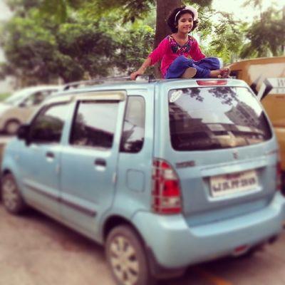 Mähh Car My cutie sister Parina Enjoyment Sunday Rakshabandhan Festival Enjoy Cool Click PicOfTheDay ...