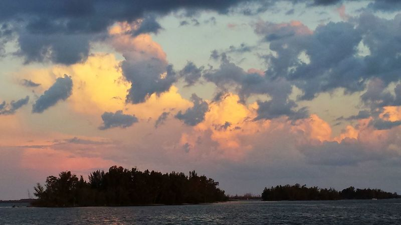 Sunset Photography Clouds And Sky Pink And Blue Spoil Islands Indian River Lagoon Water