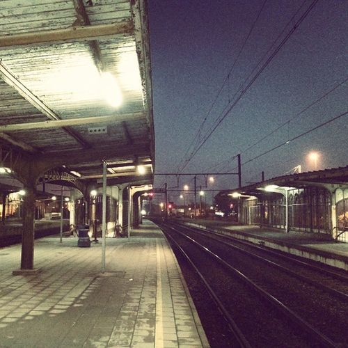 Villvoorde Belgium Trainstation Nobodyouthere 6am in the morning