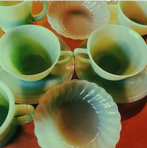 Sea of green ... The Anchor Hocking Company produced Fire-King from the 1940's to the early 1970's. They were the largest producer of jadeite and had a number of jadeite dinnerware patterns including Alice, Jane Ray, Charm, Restaurant Ware and Swirl. FireKing Jadeite Glassware Midcenturydesign Midcenturystyle Anchorhocking Midcenturyhome Fire-King