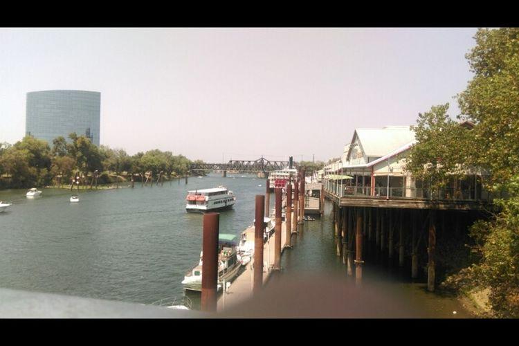 Old Sac Old Sacramento Sacramento Bridge Sacramento River Walking Around . Ate at chevys on the river then went to old sac for my birthday.😁🎂✨