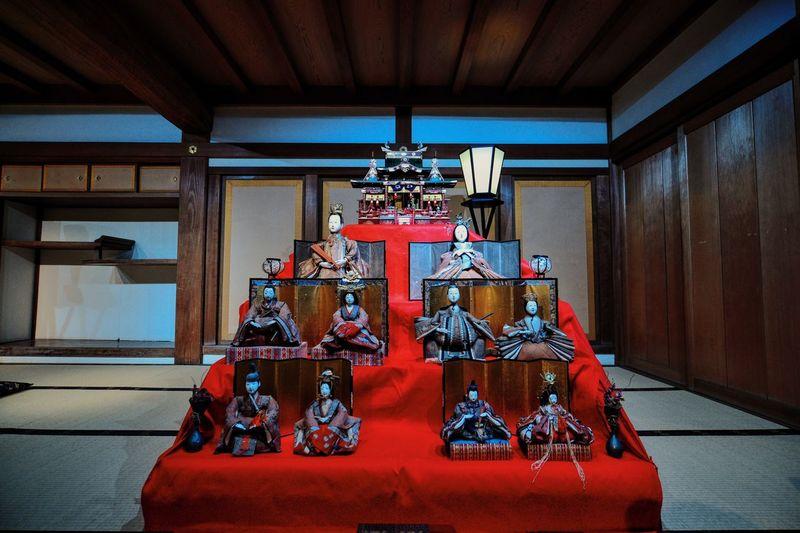 Statues In Okayama Castle