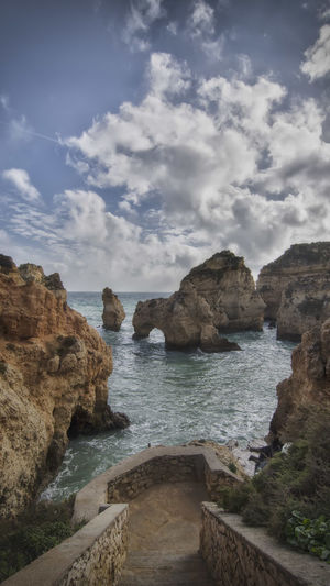 Beauty In Nature La Ponta Da Piedade Nature Rock Formation Scenery Sea Travel Destinations Water