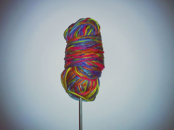 Yarn lollipop.