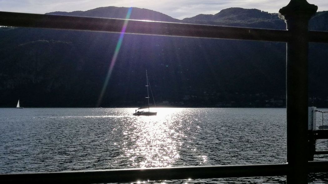 Lake Water Nautical Vessel Outdoors Day Autumn Lario Como Lake,Italy Mandello Lario