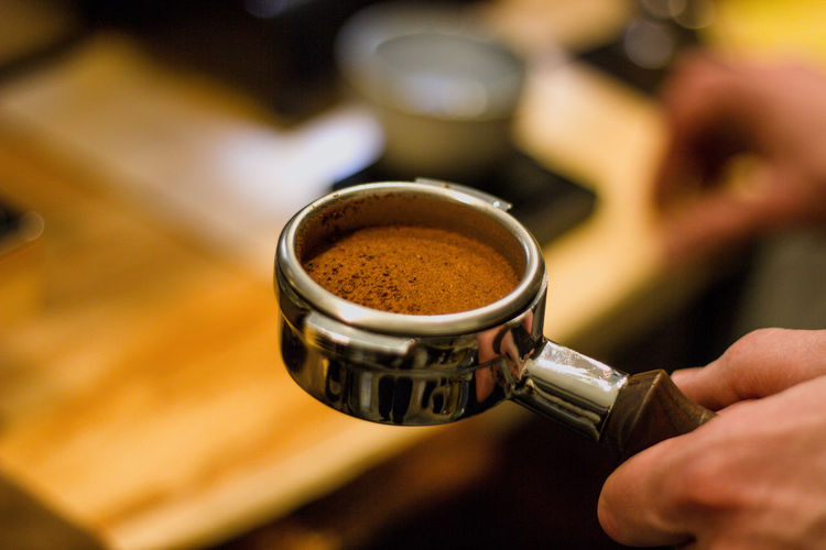 Drink Coffee Human Hand Food And Drink Refreshment Coffee - Drink Hand Human Body Part Cup Mug Coffee Cup Focus On Foreground Close-up Indoors  Holding Coffee Maker One Person Selective Focus Freshness Preparation  Finger